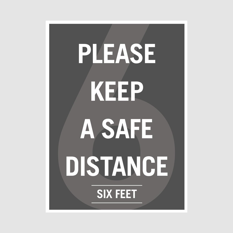 Poster_Safe Distance_office