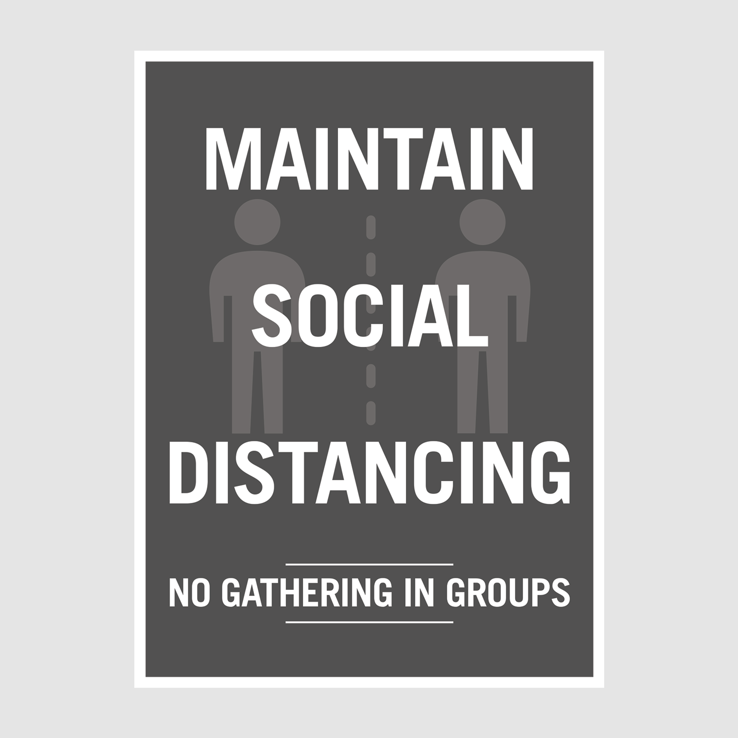 Poster_maintain social_office