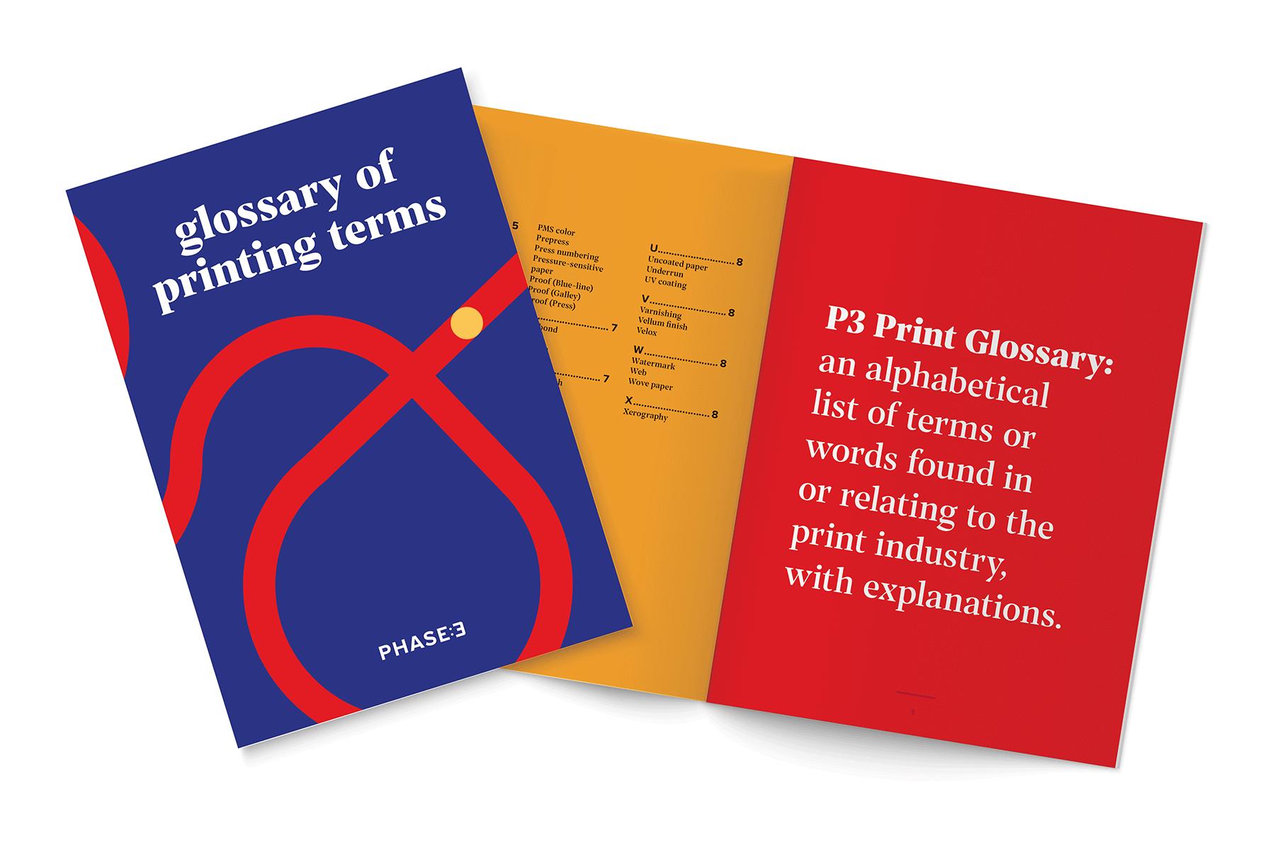 Print glossary mockup