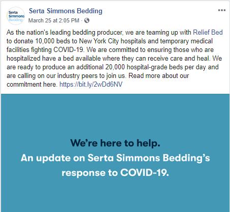 Serta Simmons Donation FB