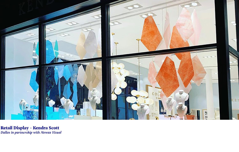 jeweled window display for kendra scott store